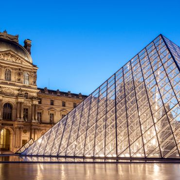 I M Pei Pyramid at Louvre