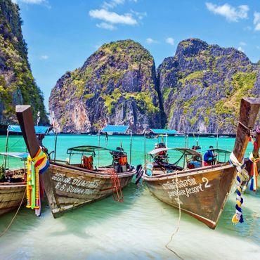 Maya Bay Phi Phi Leh Island in Thailand