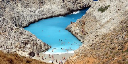 Seitan Limania Beach in Crete Greece