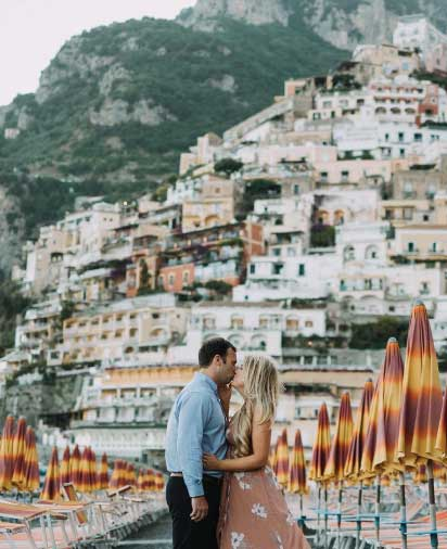 Flytographer travel photos in Amalfi Coast